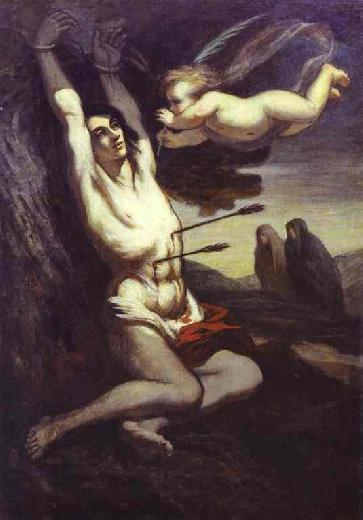 The Martyrdom of Saint Sebastian by Honore Daumier