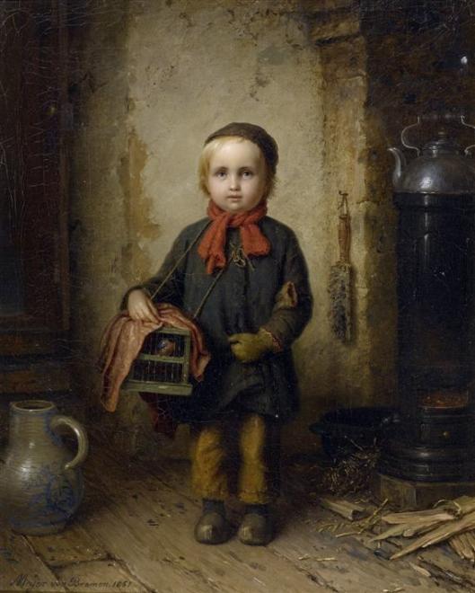 'The Little Bird Seller' Meyer 1851 {{PD-Art}}