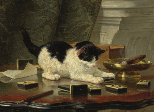 Relax this weekend, Kittens!  'Kitten's Play' by Ronner-Knip c1870 {{PD-Art}}