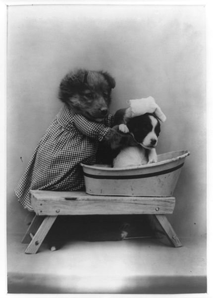 'The Bath' c1914 by Harry Whittier Frees from the Library of Congress USA {{PD}}