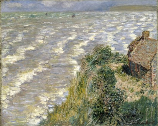 'Rising Tide at Pourville' Monet c1882 {{PD-Art}}