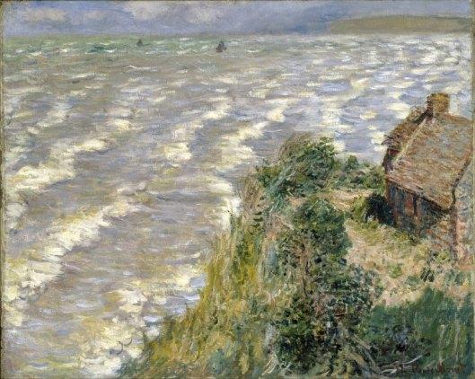 'Rising Tide at Pourville' Monet c1882 {{PD-Art}}
