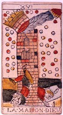 Jean Dodal Tarot 'The Tower' {{PD}}
