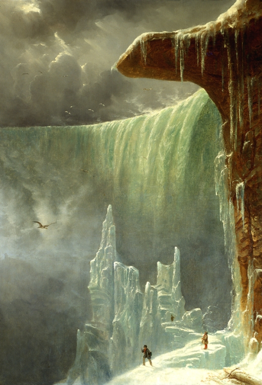 Niagara, The Table Rock in Winter c1847 by Gignoux {{PD-Art}}