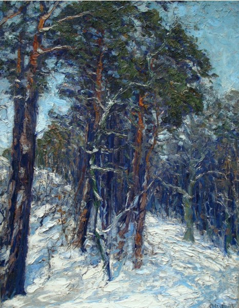 'Winter Forest' Hessmert c1900 {{PD-Art}}