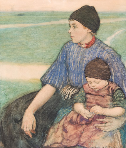 No rebellion here . . . yet. 'Mother and Child, Volendam' Bartlett 1912 {{PD-Art}}