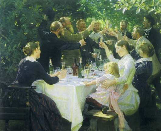 Skagen Artists' Party by Kroyer 1888 {{PD-Art}}