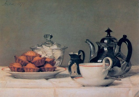 'Tea and Cakes' Anker 1873 {{PD-Art}}