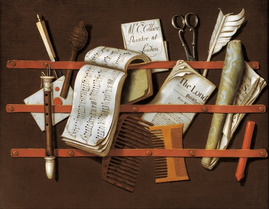 'Letter Rack' Edward Collier c1698 {{PD-Art}}