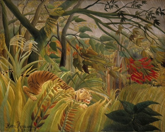 'Surprised' by Rousseau 1891 {{PD-Art}}