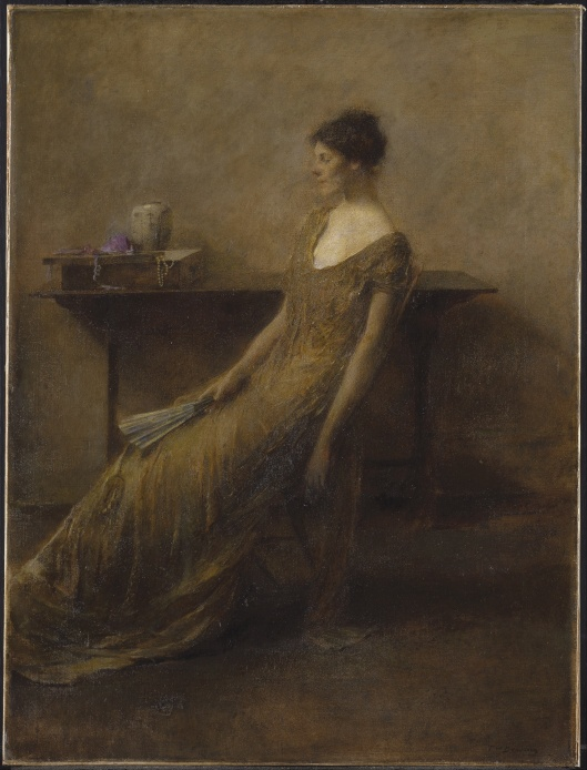 'Lady in Gold' TW Dewing 1912 {{PD-Art}}