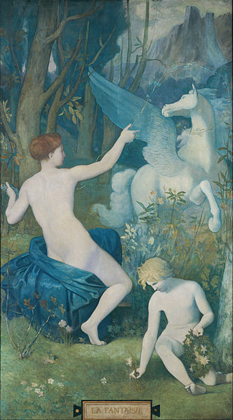 'Fantasy' by Pierre Puvis de Chavannes 1866 {{PD-Art}}