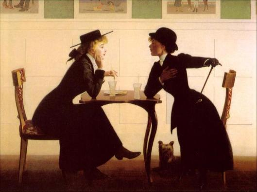 'The Discussion' c1900 by Henry Wilson Watrous