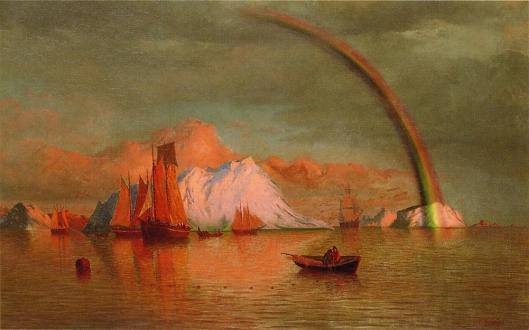 'Arctic Sunset with Rainbow' William Bradford 1877 {{PD-Art}}