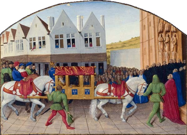 It may not be as easy, figuratively speaking, to get where we want to go this weekend. 'Charles the IV enters Saint-Denis' The Grand Chronicles of France, illustrated by Jean Fouquet c1457 {{PD-Art}}