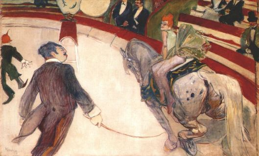 'Equestrienne (at the cirque fernando)' by Toulouse-Lautrec 1888 {{PD-Art}}