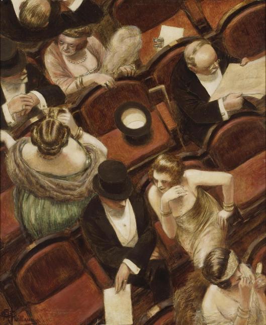 'Au Theatre' Albert Guillaume c1925 {{PD-Art}}