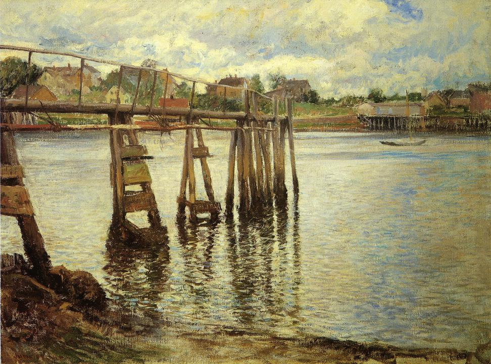 'Jetty at Low Tide aka the Walter Pier' Joseph DeCamp before 1923 {{PD-Art}}