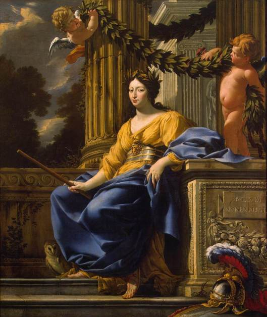 'Allegorical Portrait of Anna of Austria as Minerva', Owl included, by Simon Vouet c1640 {{PD-Art}}