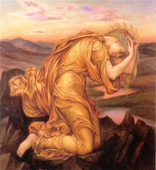 'Demeter/ Ceres Mourning Persphone/ Proserpina' Evelyn de Morgan 1906 {{PD}}