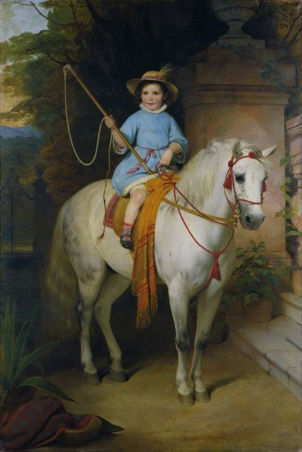 Well, someone got a pony! by Friedrich von Amerling 1845 {{PD-Art}}