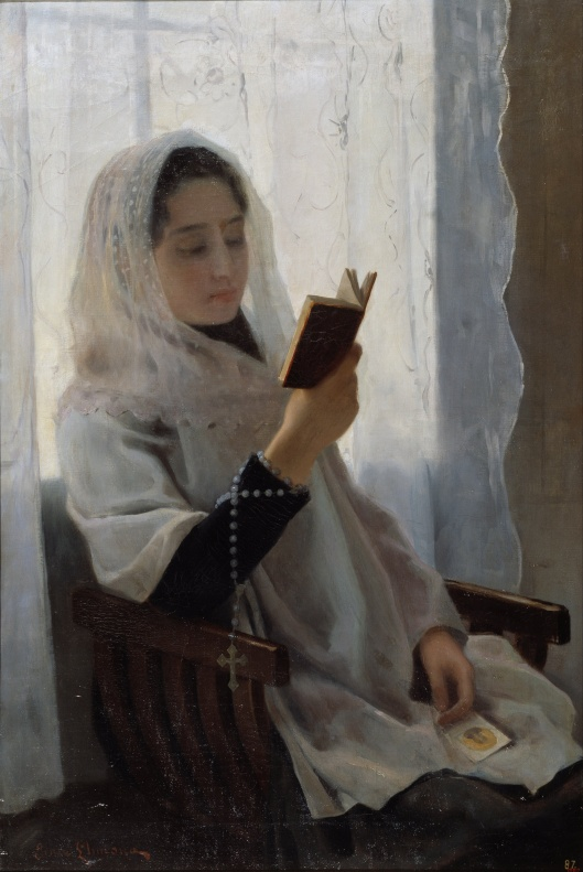 'Reading' Joan Llimona 1891 {{PD-Art}}