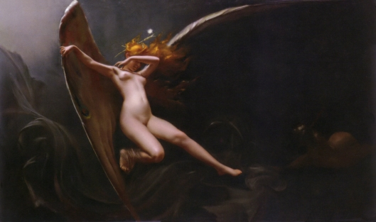 'A Fairy Under Starry Skies' Luis Ricardo Falero c1875 {{PD-Art}}