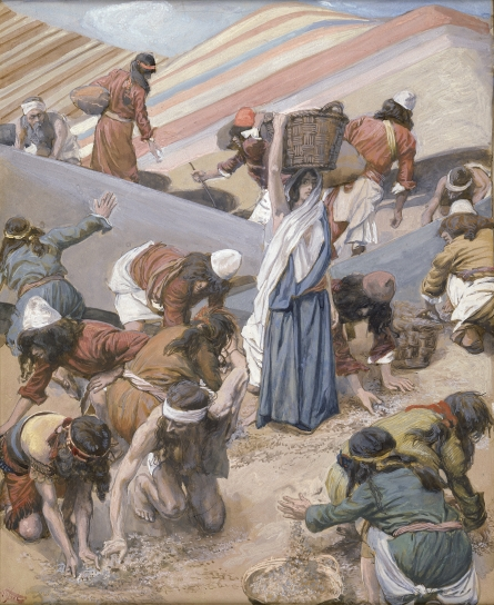 'The Gathering of the Manna' Tissot c1898 {{PD-Art}}