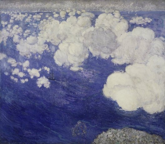 'Clouds Over the Black Sea, Crimea' Boris Israelevich Anisfeld {{PD-Russia}}