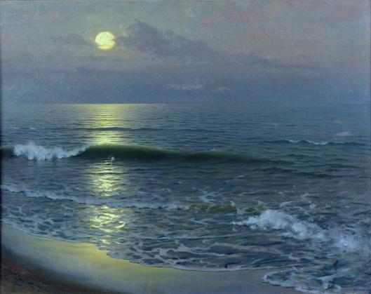 'Salida de la Luna' Guillermo Gomez y Gil 1906 {{PD-Art}}