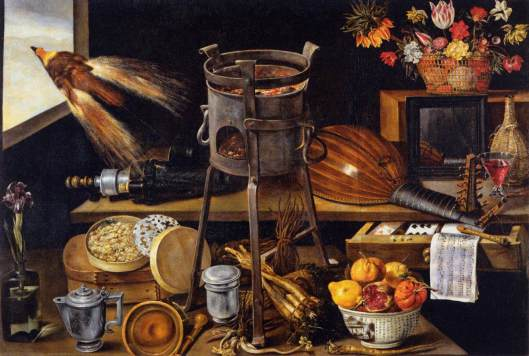 'The Five Senses and the Four Elements' Jacques Linard 1627 {{PD-Art}}