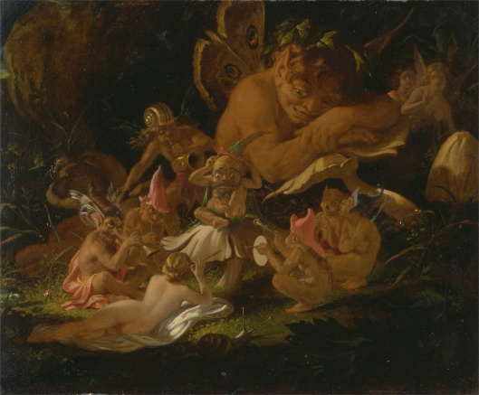 'Puck and Fairies from 'A Midsummer Night's Dream'' Joseph Noel Paton c1850 {{PD-Art}}