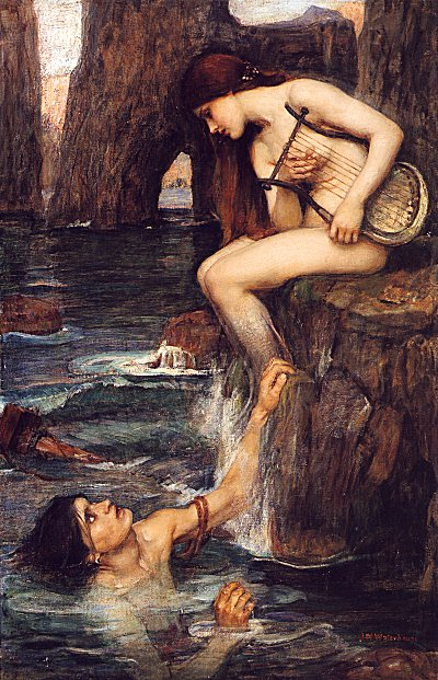 'The Siren' by Waterhouse {{PD_Art}} This captures all the elements of the Full Moon: male, female, and the emotional and experiential depths of both Pisces and Sedna