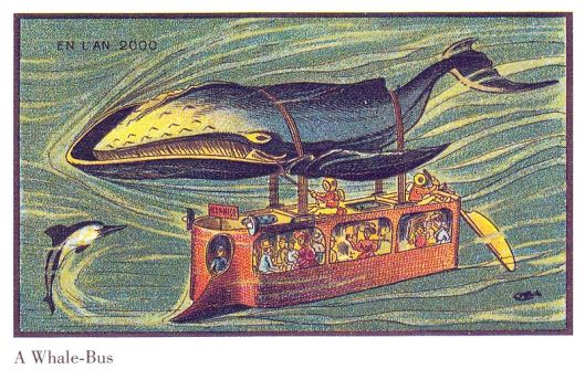 Apparently this is what those in 1899 France anticipated for the 21st century--sweet! 'Whale Bus' {{PD}}