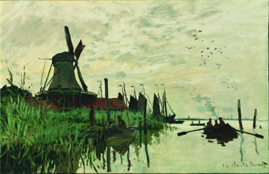 'The Mill at Zaandam' Claude Monet 1871 {{PD-Art}}