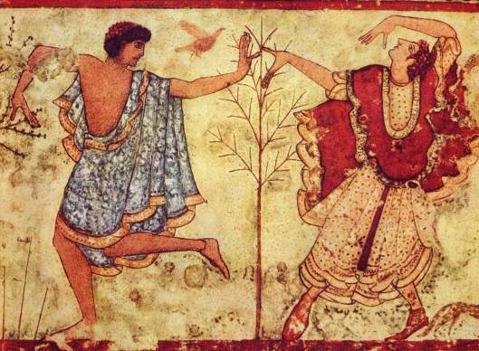 Two Dancers, Artist Unknown, wall mural, Italy