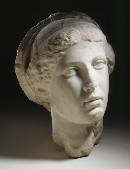 'The Head of a Woman or Goddess, Perhaps Demeter' My question was, isn't that the same thing? Sulptor unknown, from the Trajanic period 97-117 Courtesy of Los Angeles County Museum of Art, Los Angeles California US