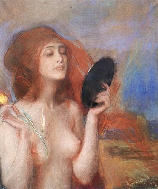 'Spring' Teodor Axentowicz 1900 {{PD-Art}}