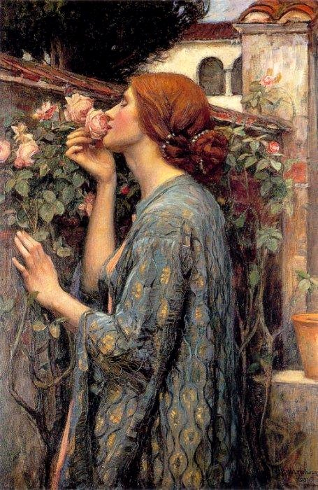 'The Soul of the Rose' Waterhouse 1908 {{PD-Art}}