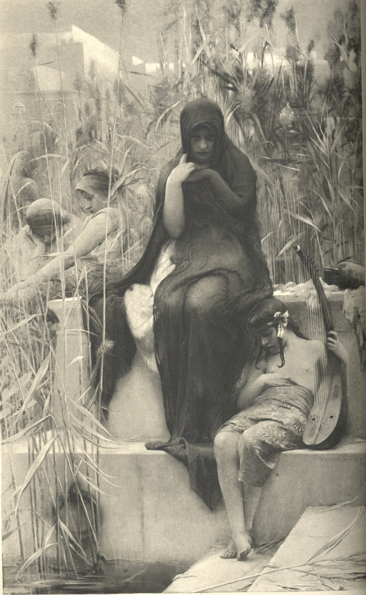 'By the Waters of Babylon' Arthur Hacker 1888 {{PD}}