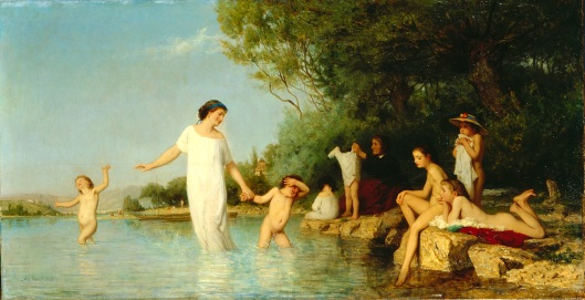 'The Bathers' Albert Anker 1865 {{PD-Art}}