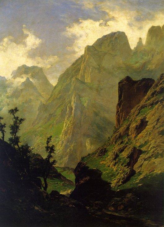 'The Peaks of Europe' Carlos de Haes 1876 {{PD}}