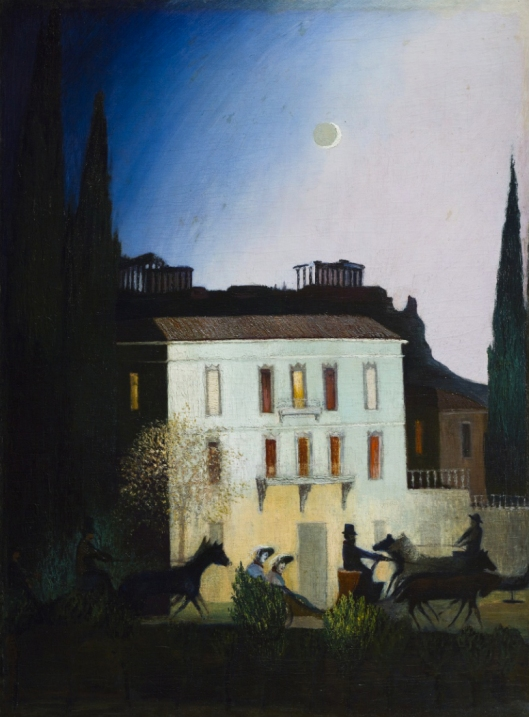'Riding in a coach in Athens under a New Moon' Tivadar Kosztka Csontváry 1904 {{PD}}