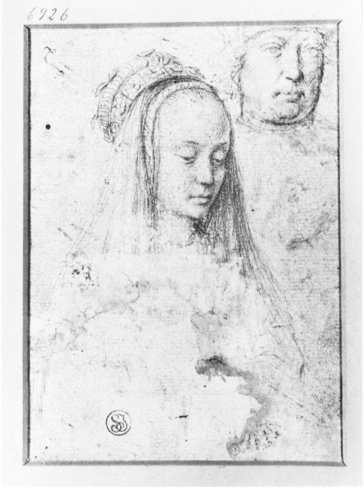 Preparatory sketch for 'The Justice of Cambyses' Gerard David 1498 {{PD}}