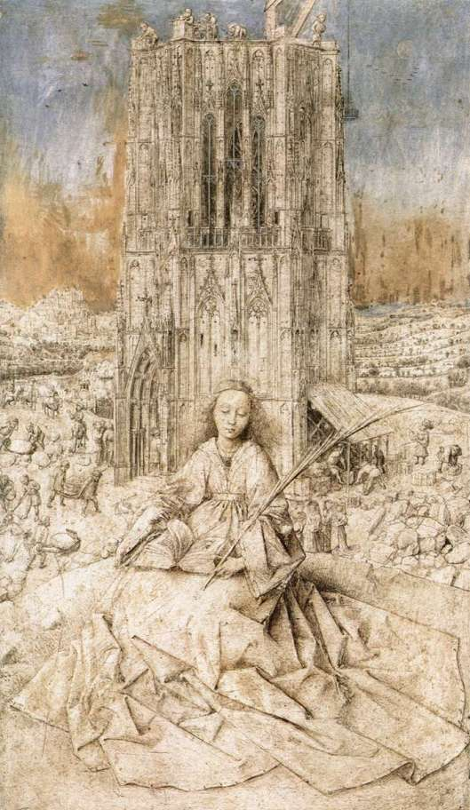 St Barbara by Jan van Eyck 1437 {{PD-Art}}