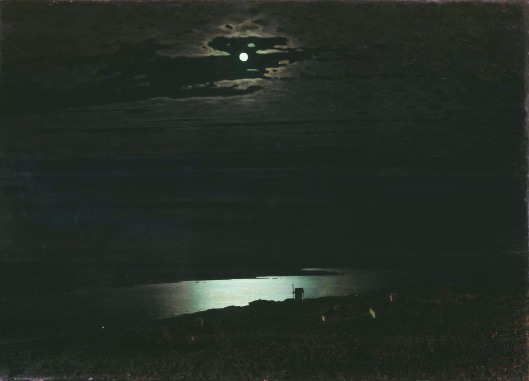 'Moonlit Night on the Dnieper' Arkhip Kuindzhi 1882 {{PD}}