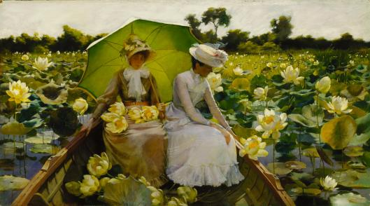 'Lotus Lilies' Charles Courtney Curran 1888 {{PD}}