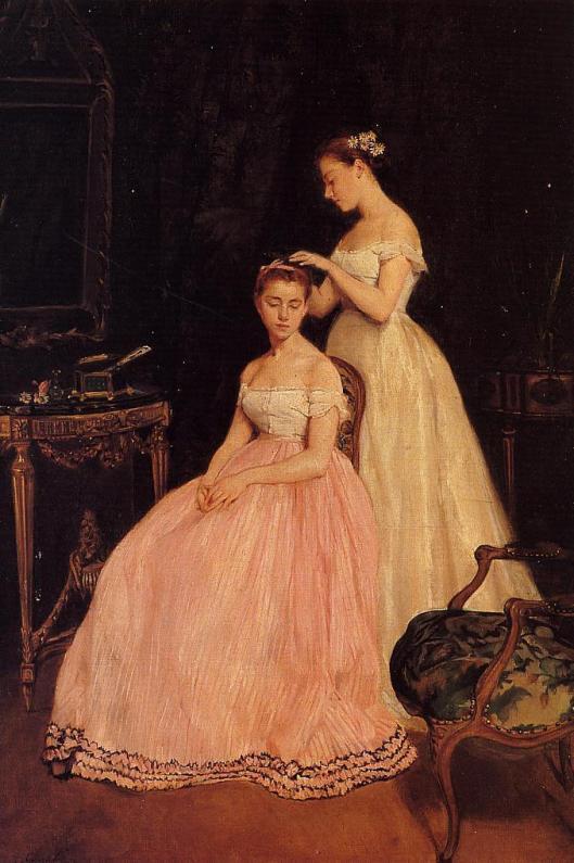 'La Toilette' Eva Gonzales 1879 {{PD}}