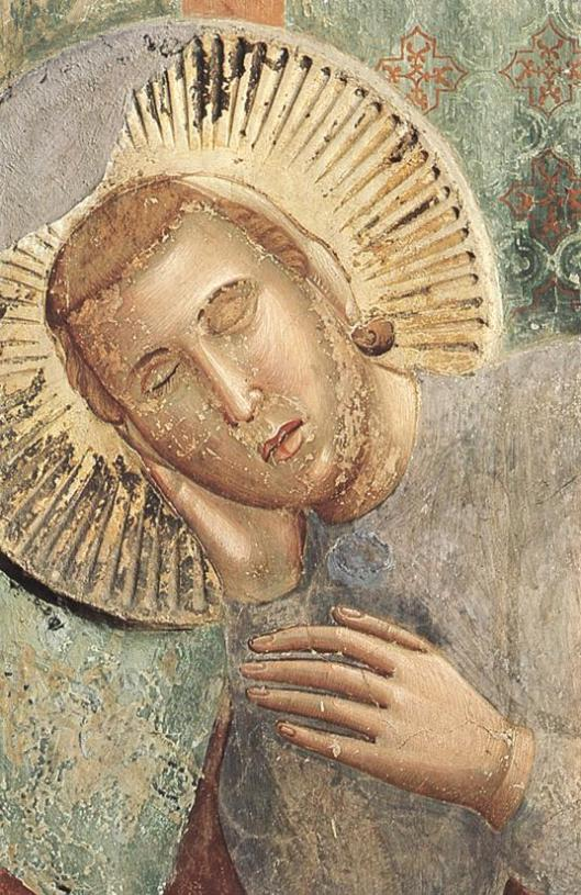 That New Moon seed may be planted in a dream. 'Legend of St. Francis--Dream of the Palace' Detail, by Giotto di Bondone {{PD}}