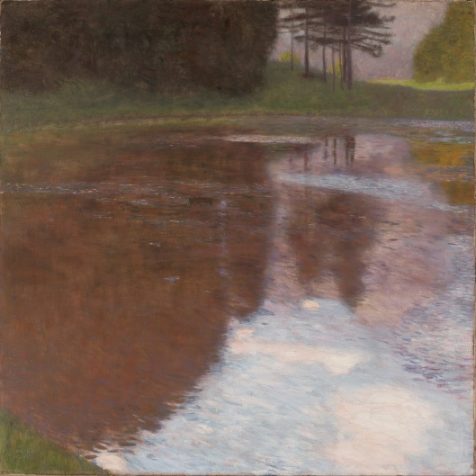 'Tranquil Pond' Egelsee near Golling, Salzburg 1899 {{PD}}